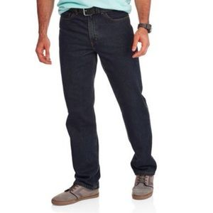 30 X 33 Men's Black Wash Relaxed Fit Jeans